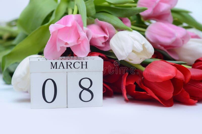 O dia das mulheres, o 8 de março fotografia de stock royalty free