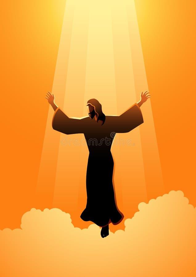 O dia de ascensão de Jesus Christ ilustração royalty free