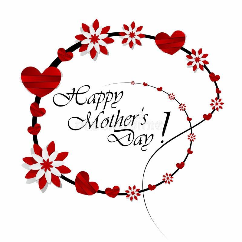 O dia de mãe feliz ilustração stock