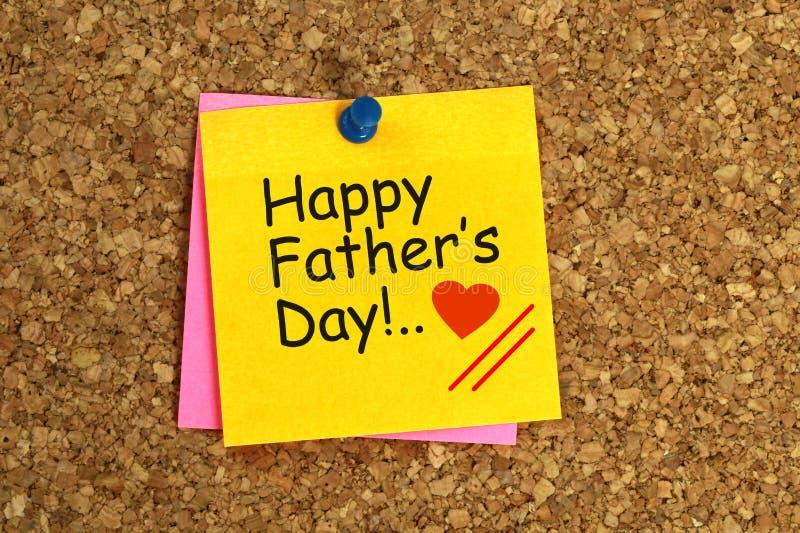 O dia de pai feliz pegajoso ilustração do vetor