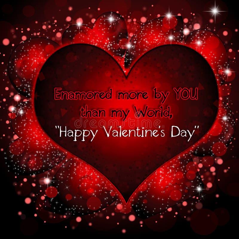 O dia de Valentim feliz ilustração do vetor