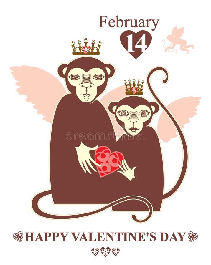 Download O dia de Valentim feliz! ilustração stock. Ilustração de gráfico - 65578005