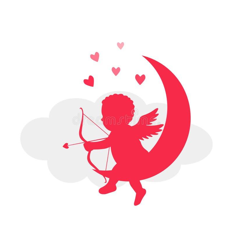 O dia de Valentim de Valentin2St - cart?o ou bandeira Ilustra??o do vetor isolada em um fundo vermelho ilustração do vetor