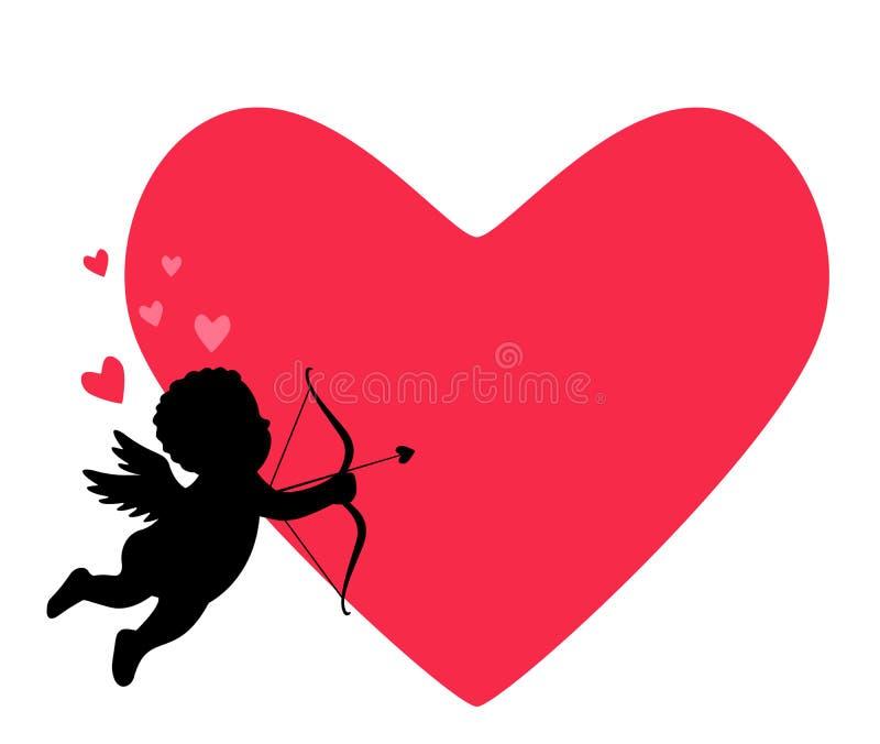 O dia de Valentim de Valentin2St - cart?o ou bandeira Ilustra??o do vetor isolada em um fundo vermelho ilustração stock