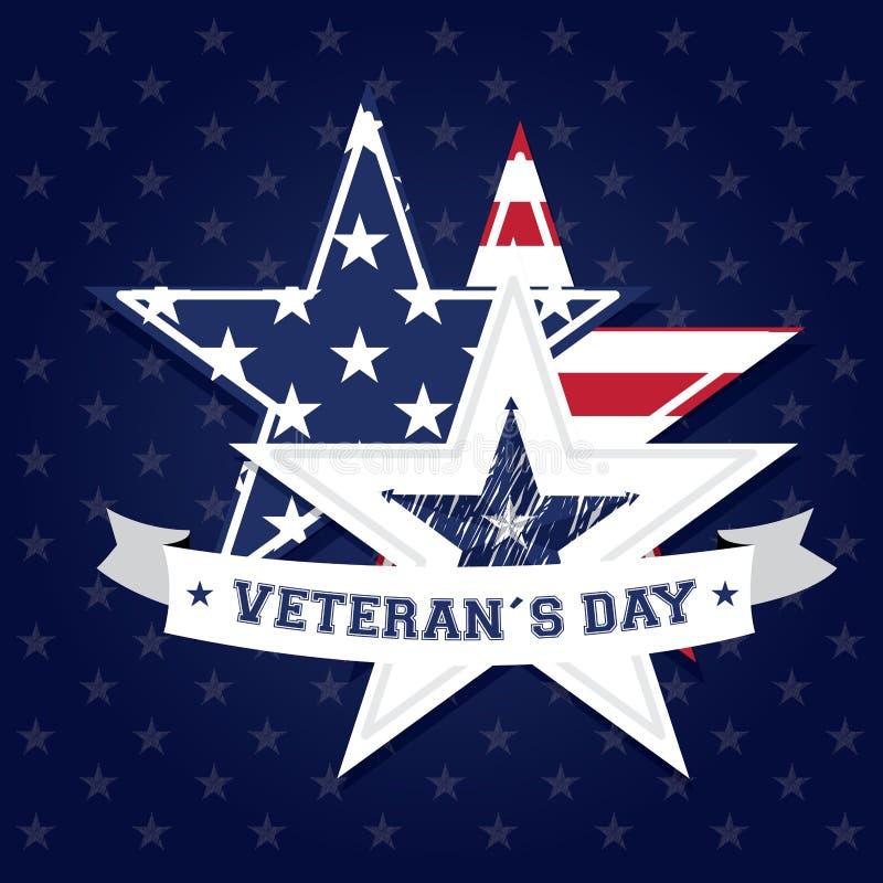 O dia de veterano ilustração royalty free