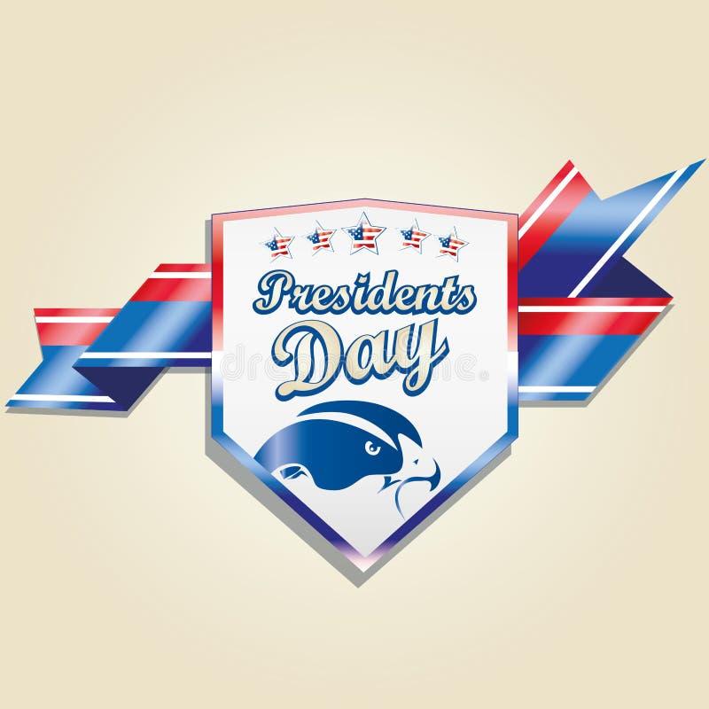 O dia do presidente ilustração royalty free