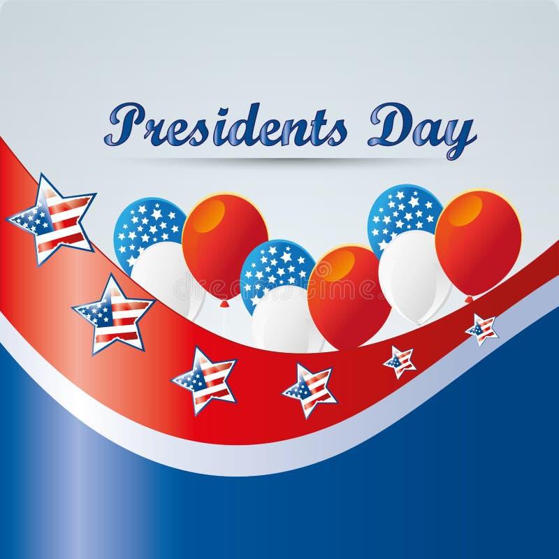 O dia do presidente ilustração stock
