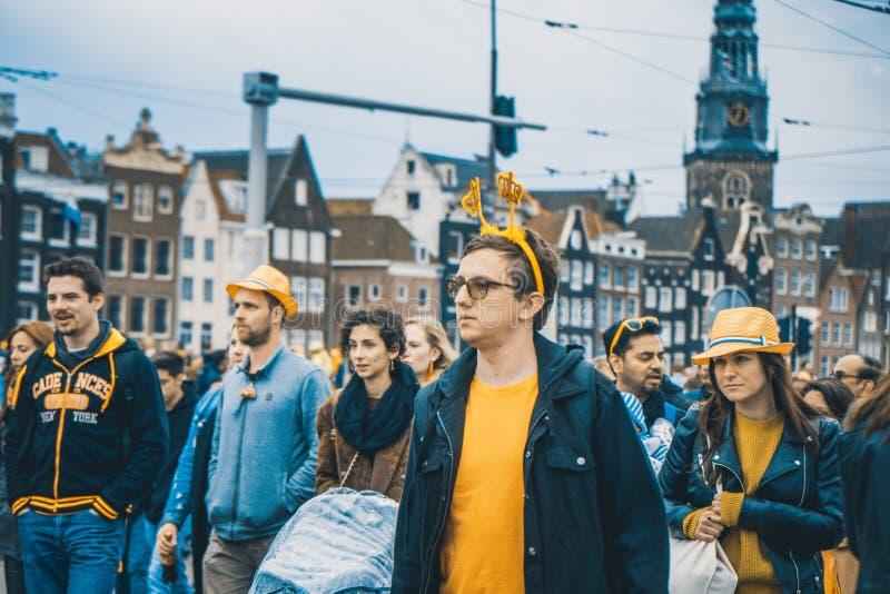 O dia do s do rei, Amsterdão, Holanda - 27/04/2018 foto de stock