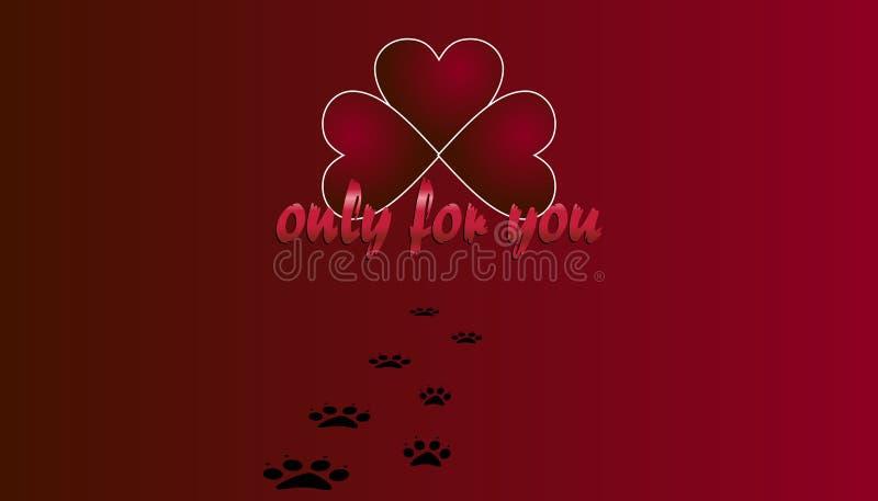 O dia do ` s do Valentim é um dia em que o símbolo do coração significar mais do que o amor ilustração do vetor