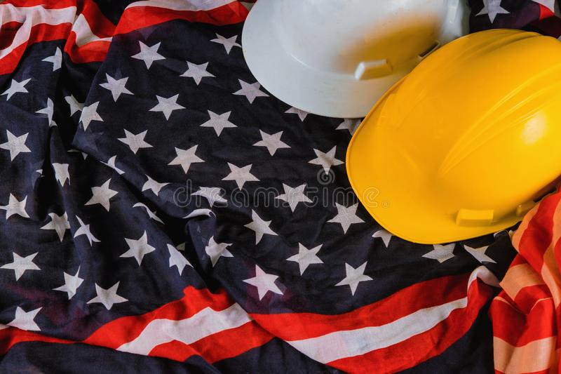 O Dia do Trabalhador é um feriado federal da opinião superior de América do Estados Unidos com espaço da cópia para o projeto do  fotos de stock