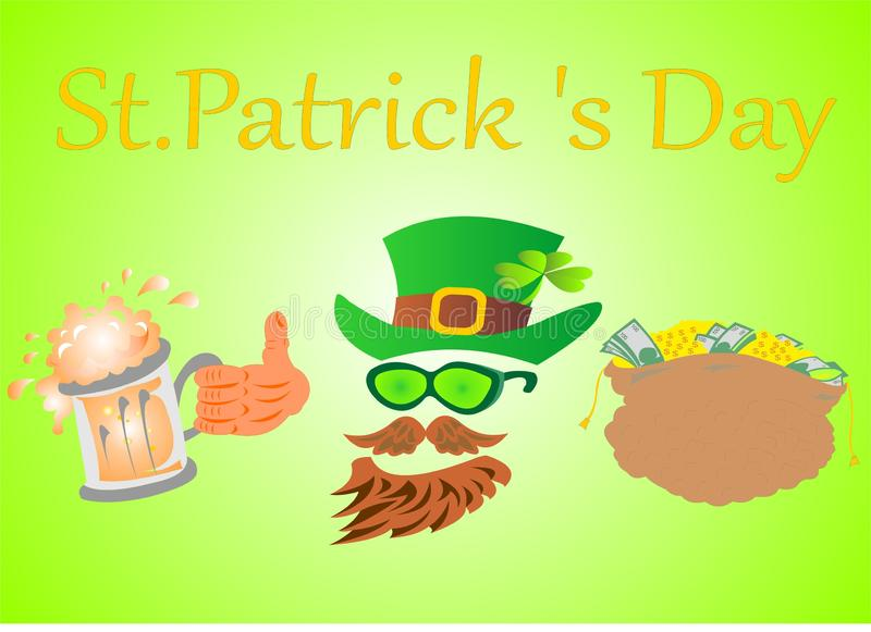 O dia n?mero 3 de St Patrick ilustração royalty free