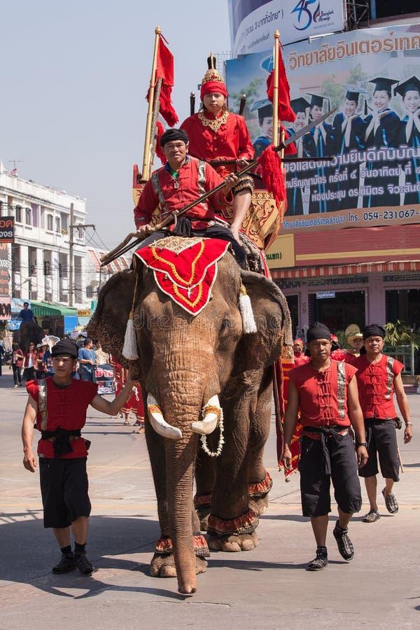O dia tailandês nacional do elefante. imagem de stock