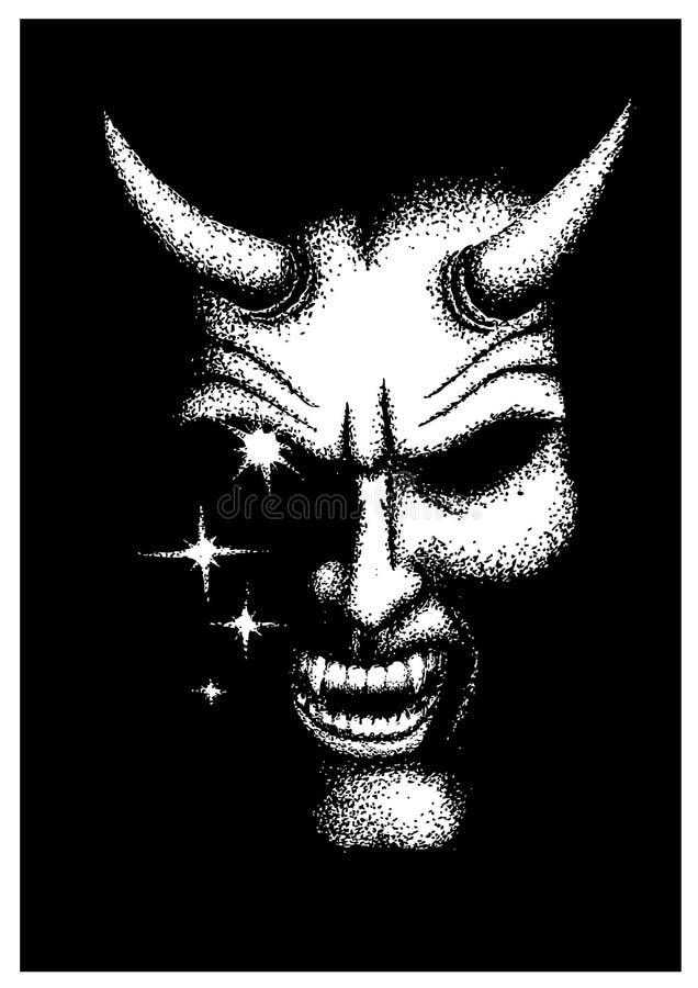 O diabo ilustração do vetor