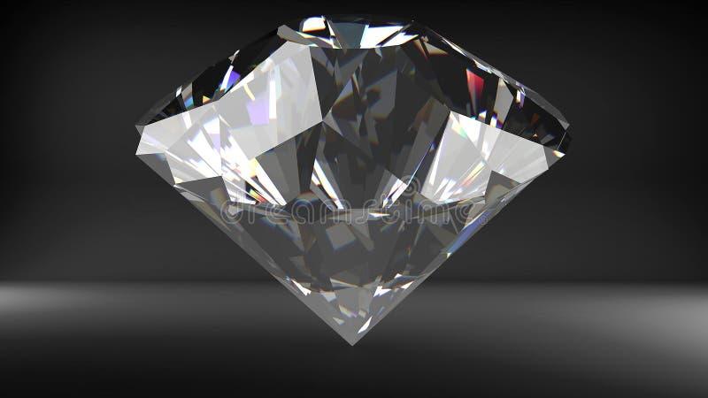o diamante 3D rende ilustração stock