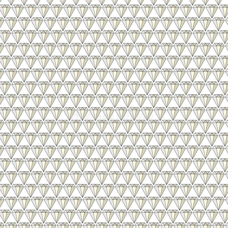 o diamante jewels o teste padrão do vetor do fundo ilustração stock