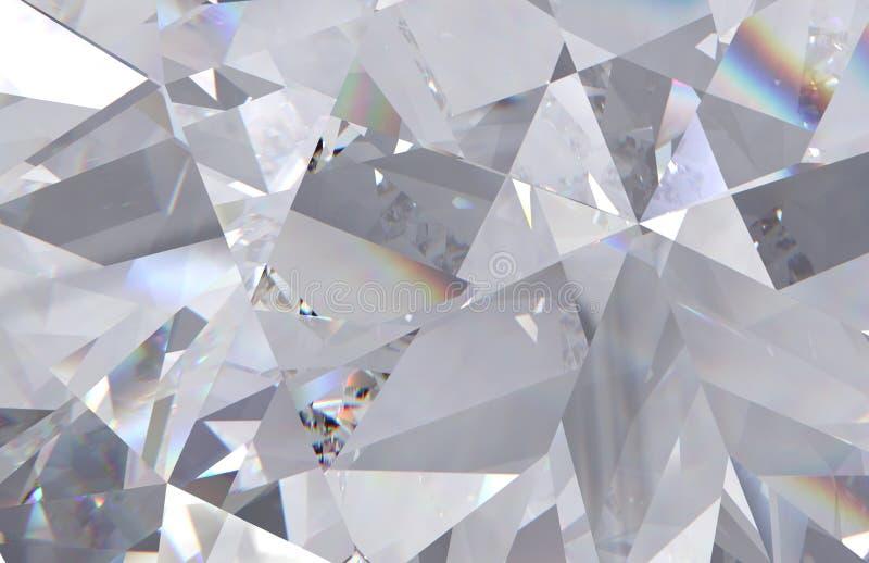o diamante macro triangular mergulhado d? forma com um diamante pequeno sobre eles ilustração do vetor