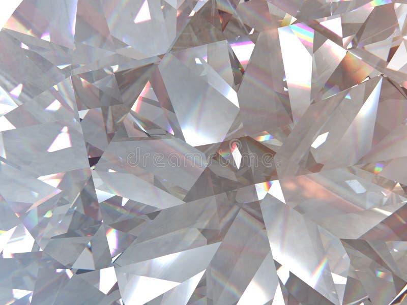 O diamante ou o cristal triangular mergulhado da textura dão forma ao fundo modelo da rendição 3d ilustração royalty free