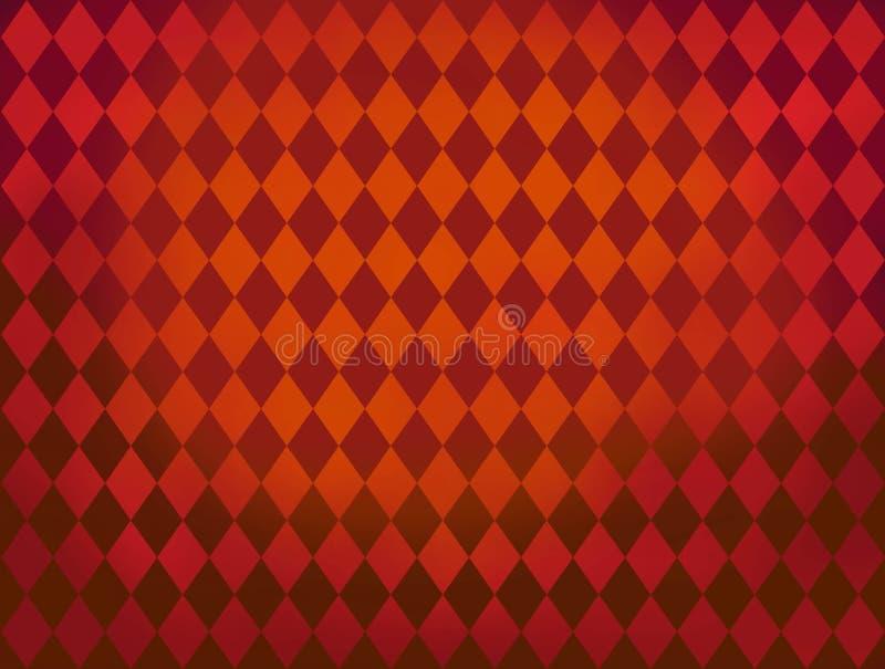 O diamante vermelho dá forma ao fundo do teste padrão de Argyle ilustração stock