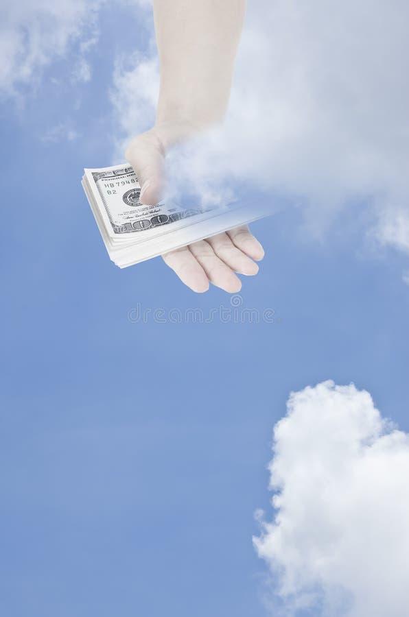 O dinheiro é deus fotos de stock