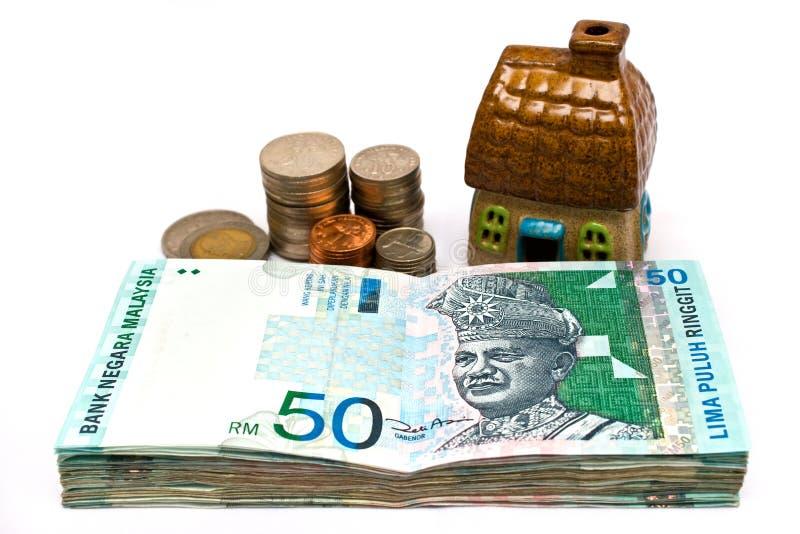 O dinheiro é propriedade imagem de stock