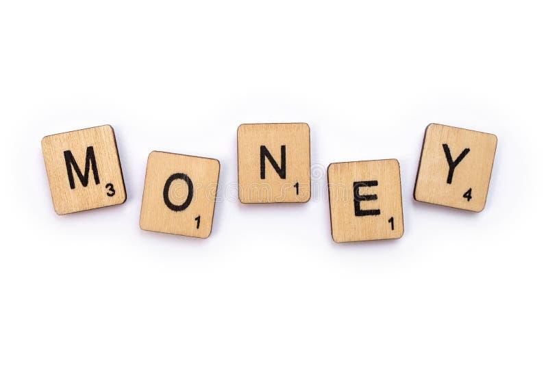 O dinheiro da palavra fotografia de stock royalty free