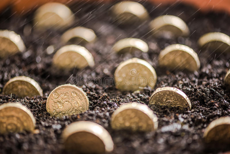 O dinheiro do investimento cresce quando você dormir foto de stock royalty free