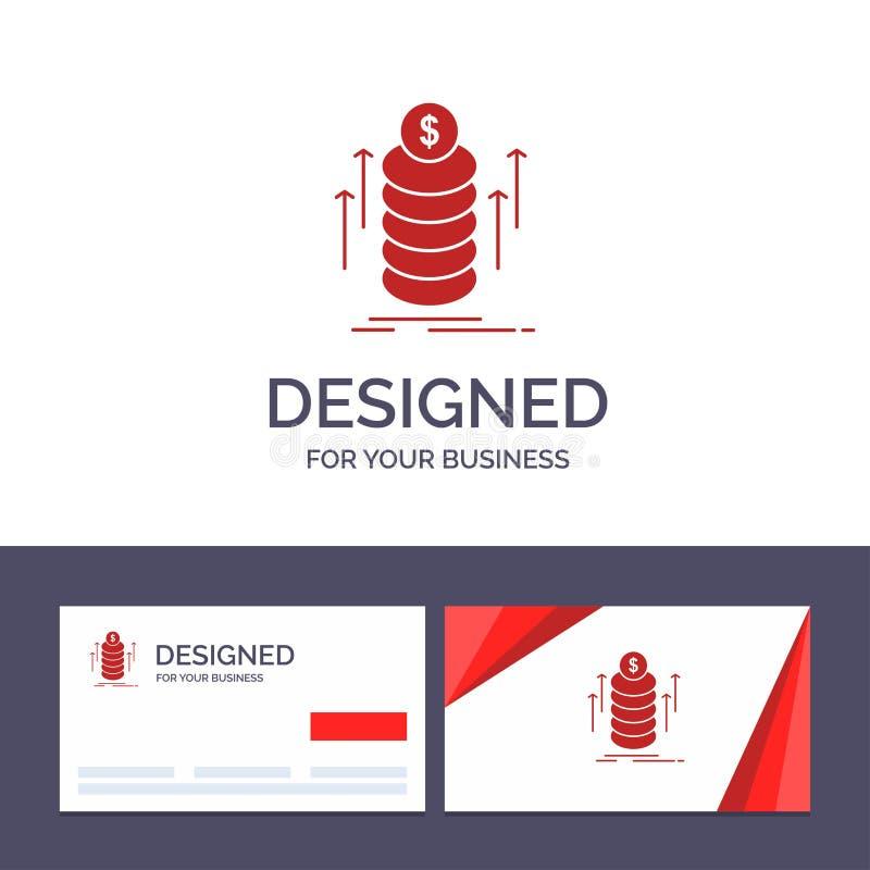 O dinheiro do molde criativo do cartão e do logotipo, pacote, transferência, inventa a ilustração do vetor ilustração royalty free
