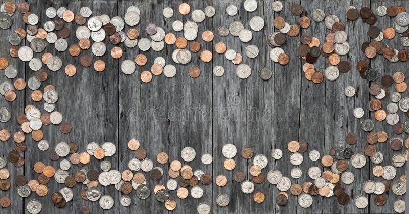 O dinheiro do quadro inventa o fundo imagens de stock