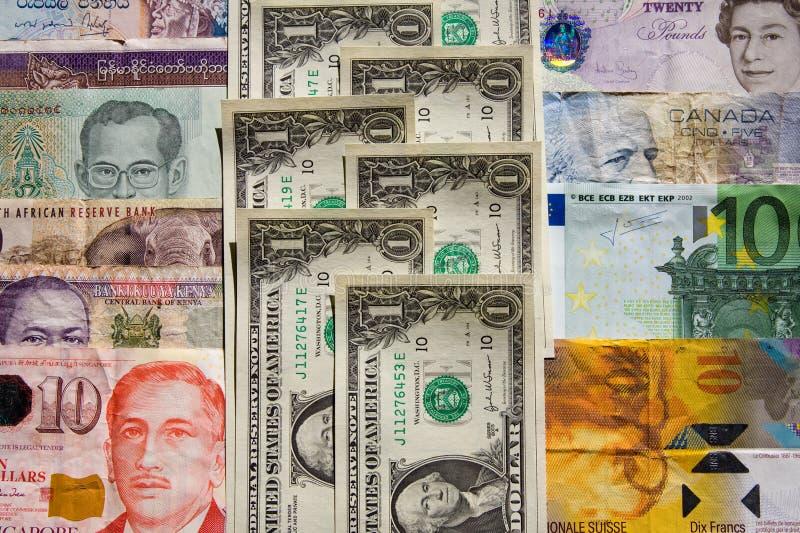 O dinheiro está dividindo países imagem de stock