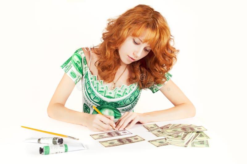 O dinheiro faz o dinheiro imagens de stock royalty free
