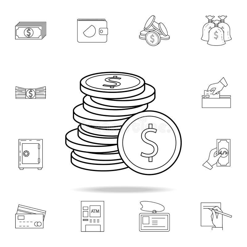 o dinheiro inventa o ícone  Ícone superior do projeto gráfico da qualidade Um dos ícones da coleção para Web site, Web ilustração royalty free