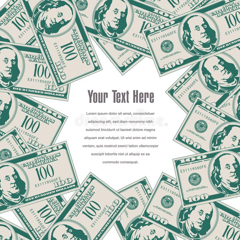 O dinheiro molda este espaço para seu texto ilustração royalty free