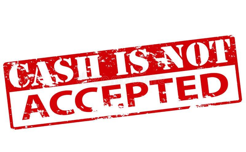 O dinheiro não é aceitado ilustração royalty free