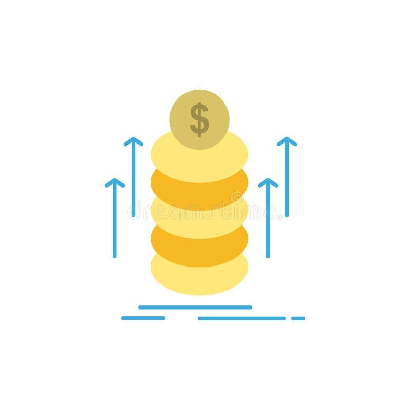 O dinheiro, pacote, transferência, inventa o ícone liso da cor Molde da bandeira do ícone do vetor ilustração stock