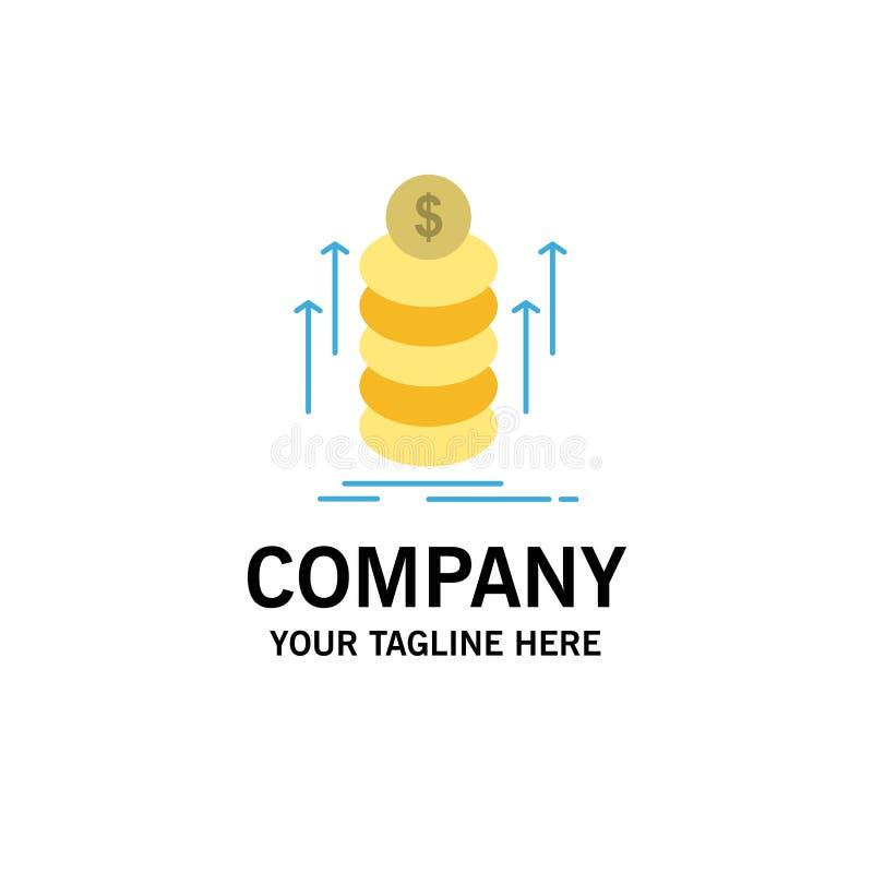 O dinheiro, pacote, transferência, inventa o negócio Logo Template cor lisa ilustração stock
