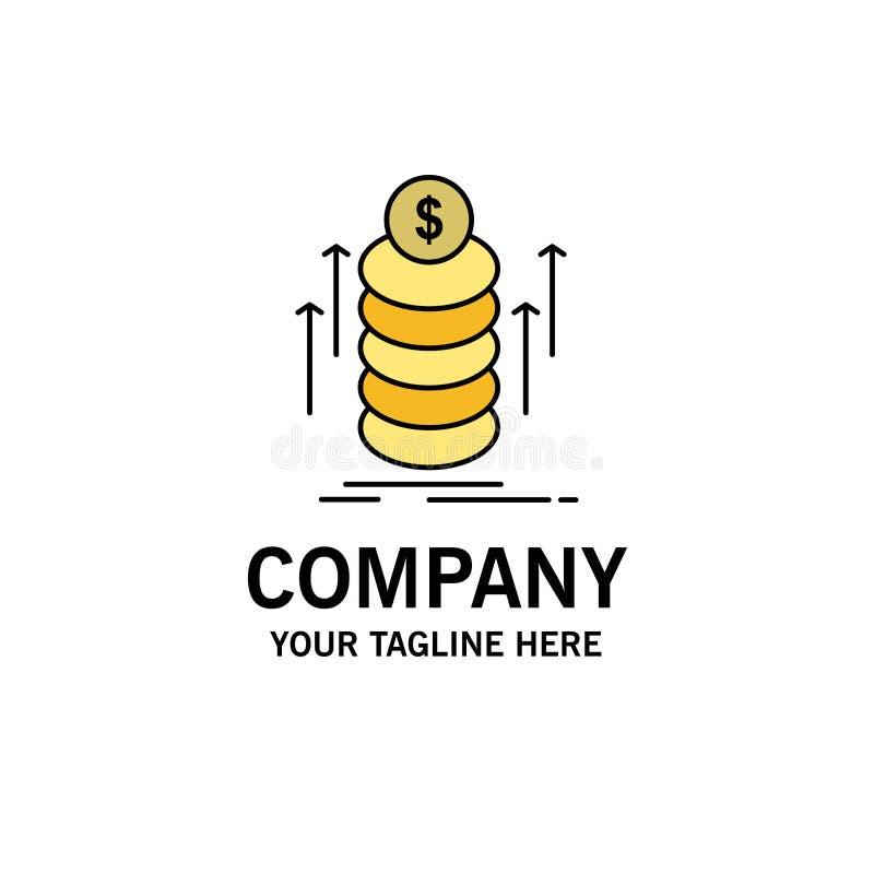 O dinheiro, pacote, transferência, inventa o negócio Logo Template cor lisa ilustração do vetor