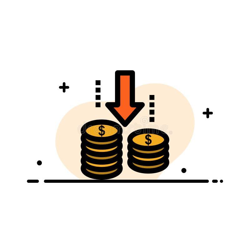 O dinheiro, transferência, fundo, linha lisa do negócio da análise encheu o molde da bandeira do vetor do ícone ilustração do vetor
