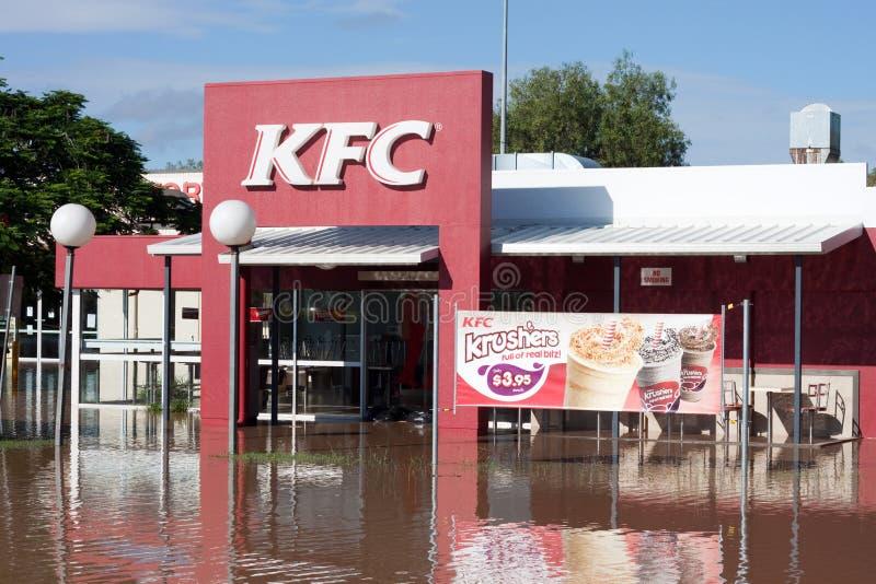 O disastre Queensland de KFC inunda horizontal foto de stock royalty free