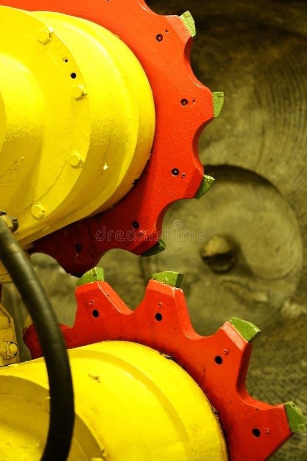 O disco da mina de carvão roda dentro Bochum, Alemanha fotografia de stock