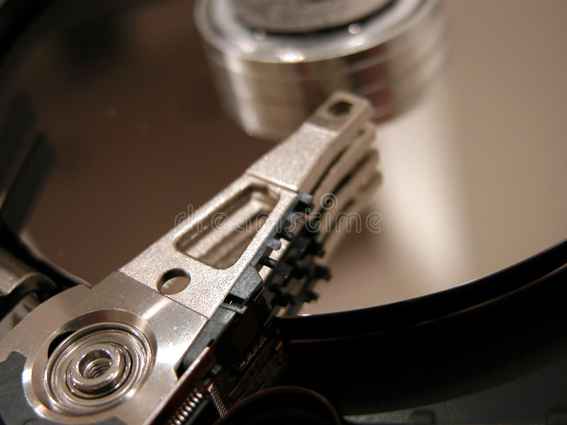 O disco rígido abriu imagens de stock