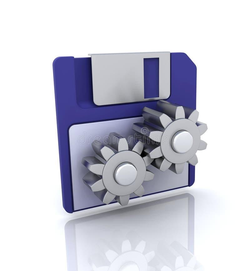 O disco utiliza ferramentas o ícone ilustração royalty free