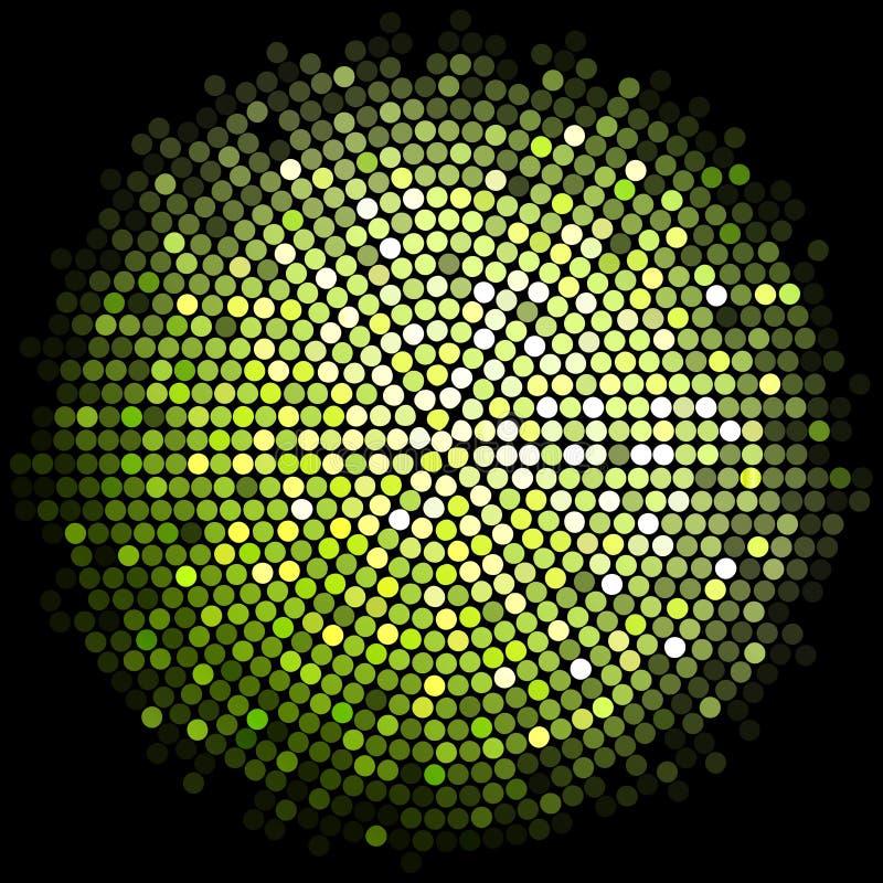 O disco verde ilumina o fundo ilustração do vetor