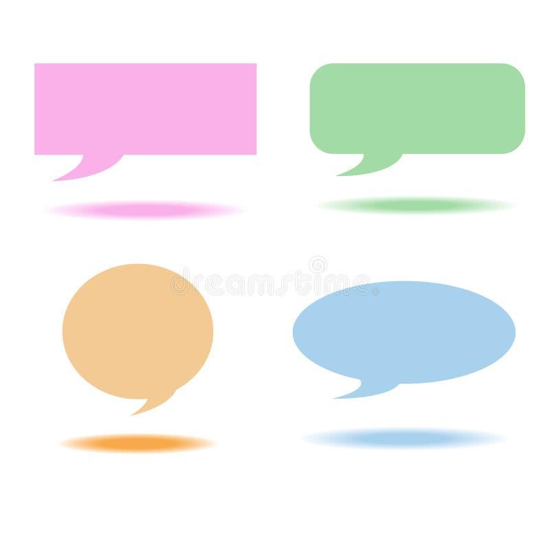 O discurso borbulha caixa ilustração stock