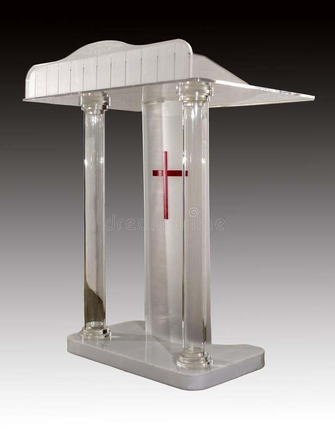 O discurso do púlpito da igreja foto de stock royalty free