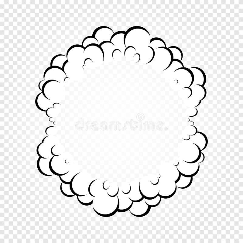 O discurso isolado dos desenhos animados borbulha, quadros do fumo ou vapor, nuvem do diálogo da banda desenhada, ilustração do v ilustração royalty free
