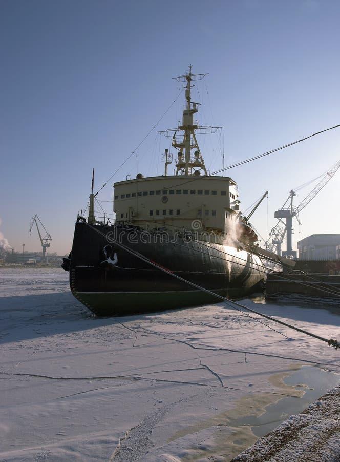 O disjuntor de gelo ártico fotografia de stock