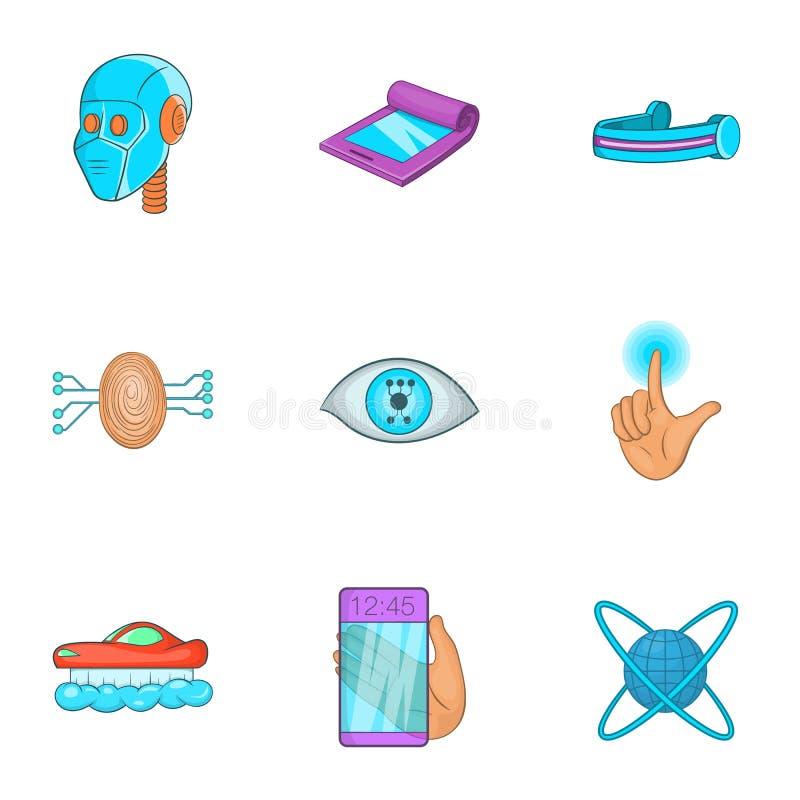 Download O Dispositivo Dos ícones Futuros Ajustou-se, Estilo Dos Desenhos Animados Ilustração do Vetor - Ilustração de objeto, isolado: 80101541