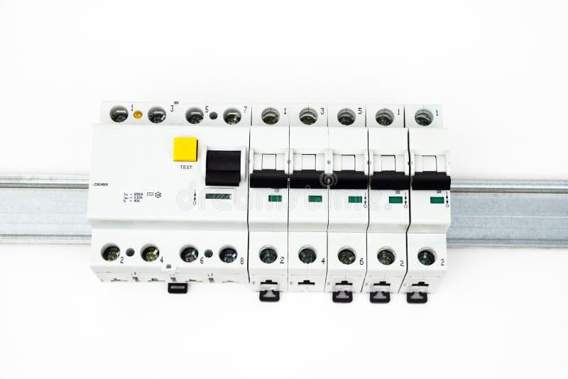 O dispositivo e o interruptor residual-atuais foto de stock royalty free