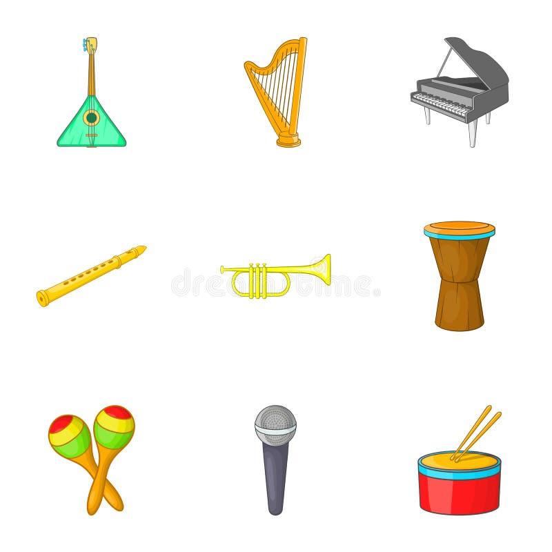 Download O Dispositivo Para ícones Da Música Ajustou-se, Estilo Dos Desenhos Animados Ilustração do Vetor - Ilustração de desenhado, isolado: 80100318