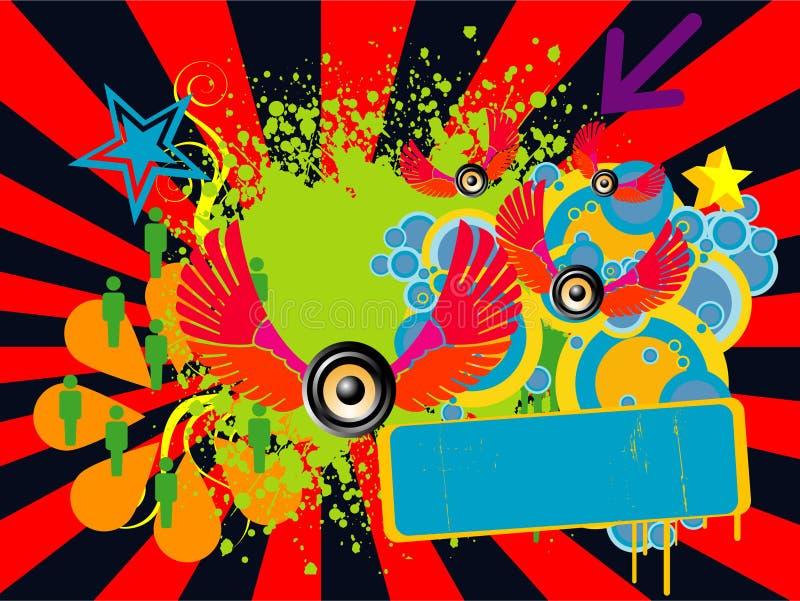 O divertimento colore o fundo ilustração stock